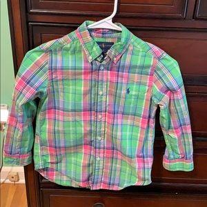 Boys Ralph Lauren button down shirt